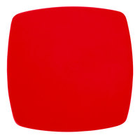 CAC R-FS8R Clinton Color 8 7/8 inch Red Square Flat Plate - 24/Case
