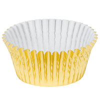 Ateco 6431 2 inch x 1 1/4 inch Gold Baking Cups (August Thomsen) - 200/Box