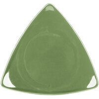 CAC TRG-16GRE Festiware Triangle Flat Plate 10 1/2 inch - Green - 12/Case