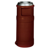 Continental 1435BN 24 Gallon Brown Ash-Top Trash Receptacle