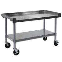 APW Wyott SSS-60C 16 Gauge Stainless Steel 60 inch x 24 inch Medium Duty Cookline Equipment Stand with Galvanized Undershelf and Casters