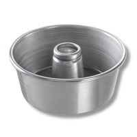 Chicago Metallic 46555 9 1/2 inch Glazed Aluminum Angel Food Cake Pan - 4 inch Deep