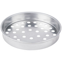 American Metalcraft SPA4007 7 inch x 1 inch Super Perforated Standard Weight Aluminum Straight Sided Pizza Pan