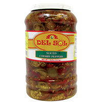 Del Sol Sliced Cherry Peppers 4 - 1 Gallon Containers / Case
