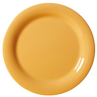 GET NP-7-TY Diamond Mardi Gras 7 1/4 inch Tropical Yellow Narrow Rim Round Melamine Plate - 48/Case