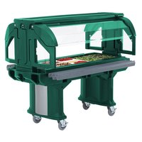 Cambro VBRLHD6519 Green 6' Versa Food / Salad Bar with Heavy Duty Casters - Low Height