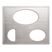 Vollrath Miramar 8250516 Stainless Steel Double Well Adapter Plate with Satin Finish Edge for Small Oval, Large Oval, and Half Oval Food Pan