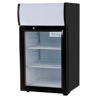 Avantco SC-40 Black Countertop Display Refrigerator with Swing Door - 1.5 cu. ft.