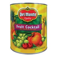 Del Monte Fruit Cocktail in Light Syrup #10 Cans - 6/Case