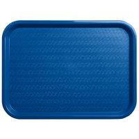 Carlisle CT121614 Cafe 12 inch x 16 inch Blue Standard Plastic Fast Food Tray