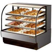 True TCGD-50 50 inch Stainless Steel Dry Bakery Display Case - 23.8 Cu. Ft.