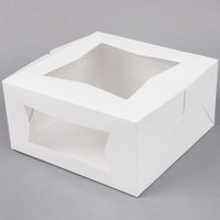 10 inch x 10 inch x 5 inch White Window Cake / Bakery Box - 150 / Bundle