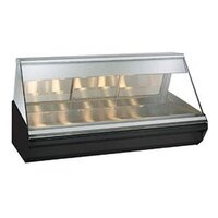 Alto-Shaam EC2-72/PR S/S  Stainless Steel Heated Display Case with Angled Glass - Right Self Service 72 inch