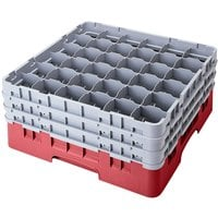 Cambro 36S638416 Cranberry Camrack 36 Compartment 6 7/8 inch Glass Rack