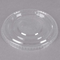 Clear Flat PET Lid for 5 oz., 8 oz., and 12 oz. Sundae Cups - No Slot - 100/Pack