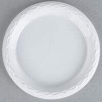 Genpak 70600 Aristocrat 6 inch White Heavy Plastic Plate - 1000 / Case