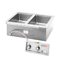 Wells MOD227TDMAF 2 Well 4/3 Size Drop-In Hot Food Well with Drain Manifolds and Autofill - Thermostatic Control