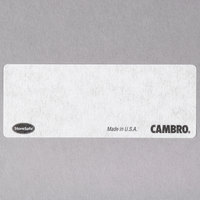 Cambro SLL30 StoreSafe 2 1/2 inch x 1 inch Printable Dissolvable Product Labels - 3000/Case