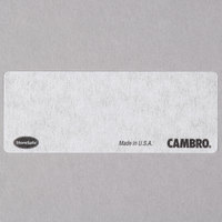 Cambro SLL30 StoreSafe 2 1/2 inch x 1 inch Printable Dissolvable Product Labels 3000 / Case