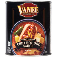Vanee 390I Chili Hot Dog Sauce - (6) #10 Cans / Case