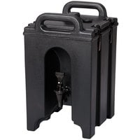 Cambro 100LCD110 Camtainer 1.5 Gallon Black Insulated Beverage Dispenser