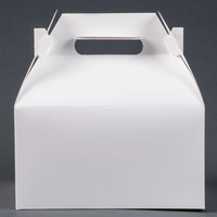 9 1/16 inch x 7 1/16 inch x 5 inch White Barn Take Out Lunch Box / Chicken Box 125/Case