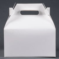 9 1/16 inch x 7 1/16 inch x 5 inch White Barn Take Out Lunch Box / Chicken Box - 125/Case