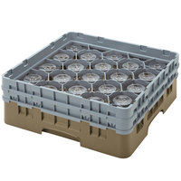 Cambro 20S1114184 Camrack 11 3/4 inch High Beige 20 Compartment Glass Rack