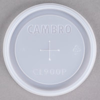 Cambro CL900P Disposable Translucent Lid with Straw Slot for Tumblers - 1000/Case