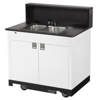 Vollrath 75672 WHITE Portable Double Bowl Hand Sink Cart 120V