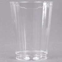 WNA Comet CC10240 Classicware 10 oz. Tall Clear Plastic Fluted Tumbler - 20/Pack