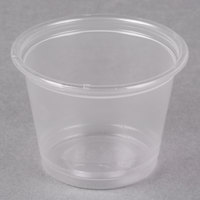 Dart Solo Conex Complements 100PC 1 oz. Translucent Plastic Souffle / Portion Cup   - 125/Pack