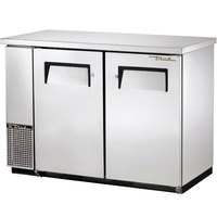 True TBB-24-48-S 49 inch Stainless Steel Back Bar Refrigerator with Solid Doors - 24 inch Deep
