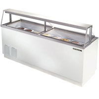 True TDC-87 88 inch Straight Glass Ice Cream Dipping Cabinet