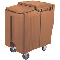 Cambro ICS175TB157 Coffee Beige Sliding Lid Portable Ice Bin - 175 lb. Capacity Tall Model