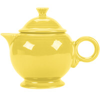 Homer Laughlin 496320 Fiesta Sunflower 44 oz. Covered Teapot - 4 Sets / Case