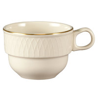 Homer Laughlin 1420-0314 Westminster Gothic Off White 7.5 oz. Stacking Cup - 36/Case