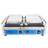 Globe GSGDUE10 Bistro Series Double Sandwich Grill with Smooth Plates - 208/240V, 3200W