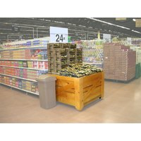Orchard Produce Display Bin 4' x 4' with Liner - Pine