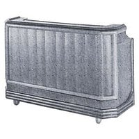 Cambro BAR650CP191 Granite Gray Cambar 67 inch Portable Bar with 7-Bottle Speed Rail and Cold Plate