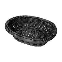 GET WB-1503-BK 9 inch x 6 3/4 inch x 2 1/2 inch Designer Polyweave Black Oval Basket - 12 / Case