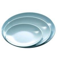 Blue Jade 9 1/4 inch Round Melamine Plate - 12/Case