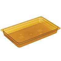 Cambro 16HP150 Amber H-Pans 6 inch Deep Full Size High Heat Food Pan