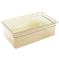Cambro 16HP150 H-Pan Full Size Amber High Heat Food Pan - 6 inch Deep