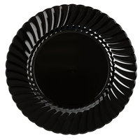 "WNA Comet CW9180BK Classicware 9"" Black Plastic Plate - 18/Pack"
