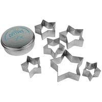 Ateco 7805 6-Piece Stainless Steel Plain Star Cutter Set (August Thomsen)