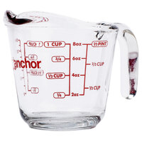 Anchor Hocking 55175OL13 8 oz. (1 Cup) Glass Measuring Cup