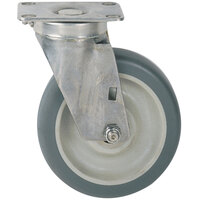 Metro C8PBGSA 8 inch Super Erecta Washable Polyurethane Swivel Plate Caster with Brake