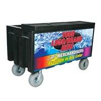 Black Extra Large Super Arctic 080 Mobile 456 qt. Cooler with Wheels
