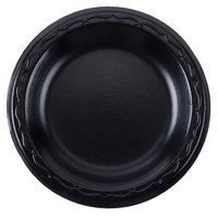 Genpak LAM09-3L Elite 8 7/8 inch Black Laminated Foam Plate - 125/Pack